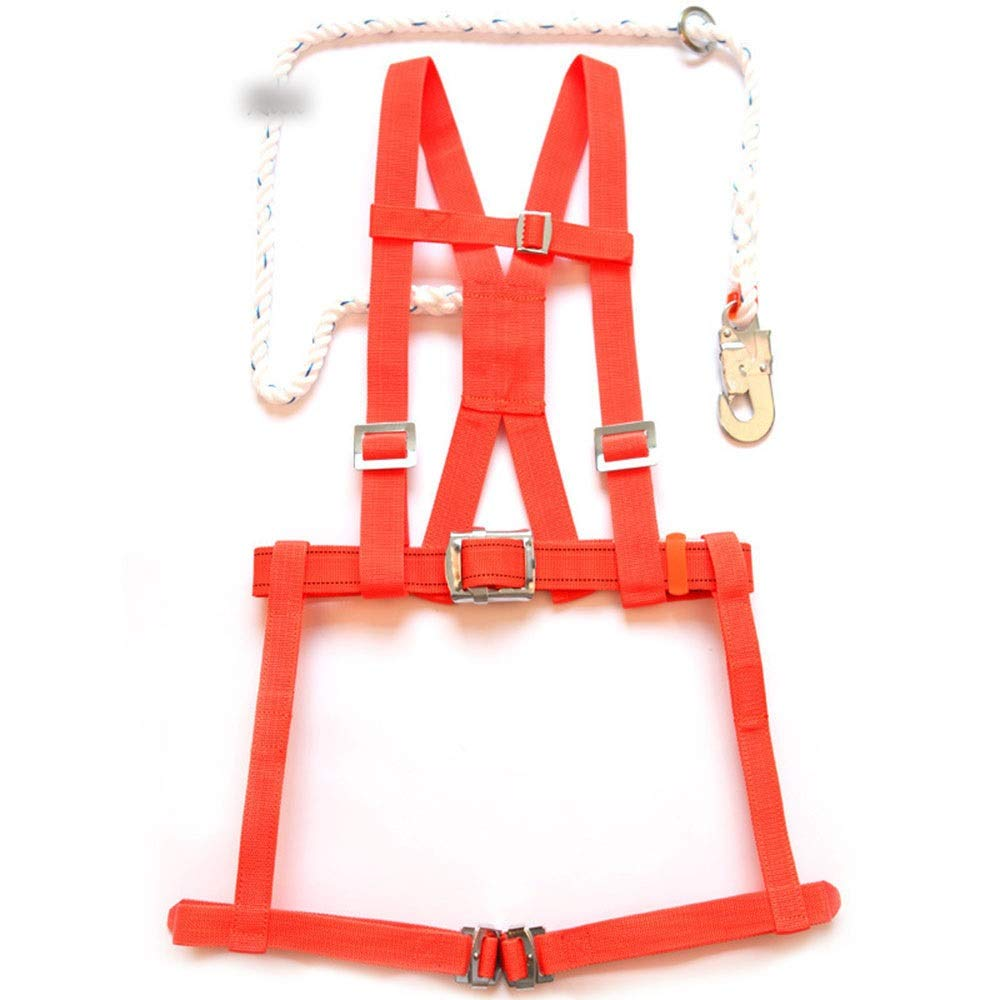 Red JESSIEKERVIN YY3 Full Body Harness Double Back Seat Harness Electrician Maintenance Safety Against Outdoor Aerial Work (color   Red)