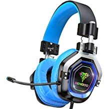 BENGOO Gaming Headset for PS4, Xbox One, PC,【4 Speaker Drivers】 Over Ear Headphones with 45° Adjustable Earmuff, 720° Noise Canceling Microphone, Soft Memory Earmuffs for Xbox One Accessory Kits