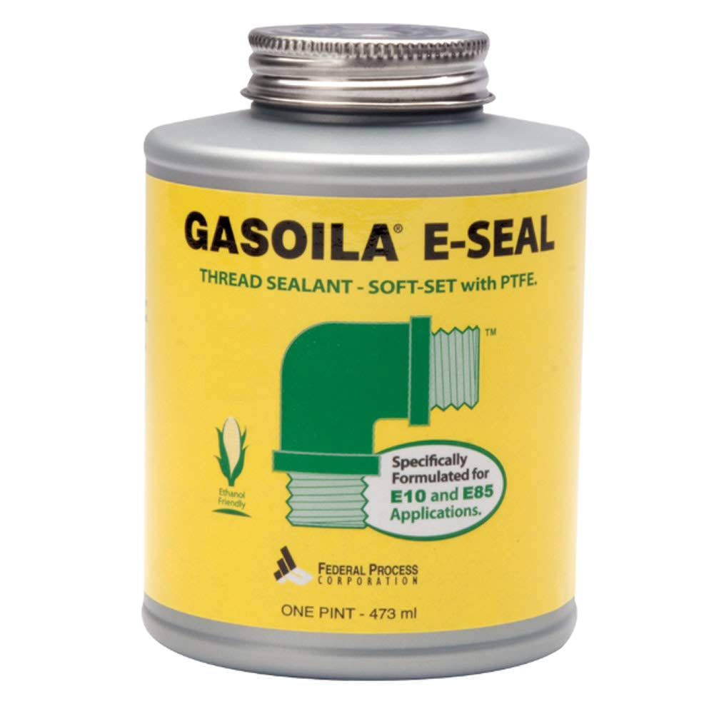 Gasoila E-Seal Pipe Thread Sealant with PTFE Paste, Non Toxic, -100 to 600 Degree F, 1 Pint Brush by Gasoila