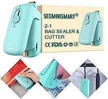 Folienschweißgerät, Mini Bag Sealer, Hand-Folienschweißgerät, Mini Folienschweißgerät Handlicher Tüten Verschweißer, 2 in...
