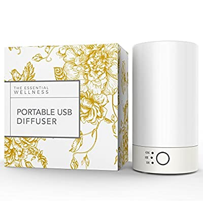 Personal Humidifier and USB Oil Diffuser for Aromatherapy - Enjoy the Benefits of Essential Oils Wherever You Go - Perfect for Home and Travel by The Essential Wellness