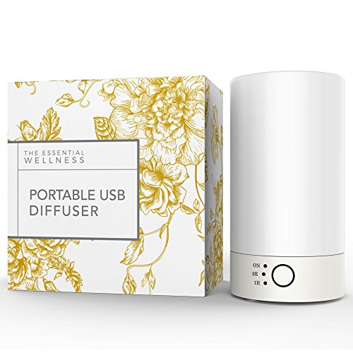 The Essential Wellness USB Personal Aromatherapy Diffuser and Humidifier for Essential Oils. Perfect for Home and Travel