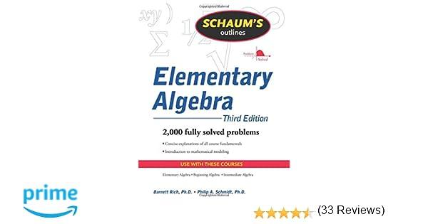 Schaum's Outline of Elementary Algebra, 3ed (Schaum's Outlines ...