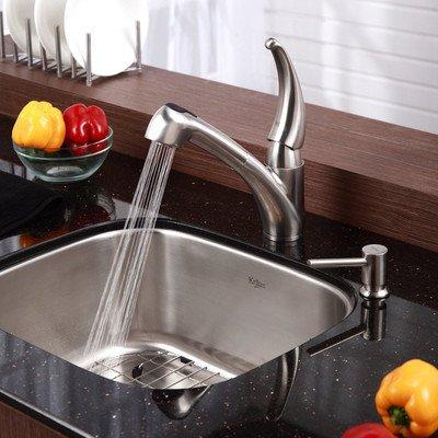 Kraus 20 inch Undermount Single Bowl Stainless Steel Kitchen