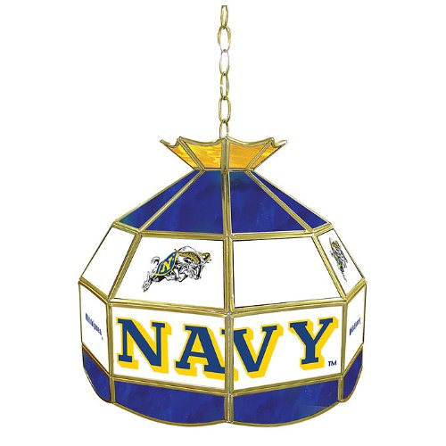 NCAA United States Naval Academy Tiffany Gameroom Lamp, 16'' by Trademark Gameroom