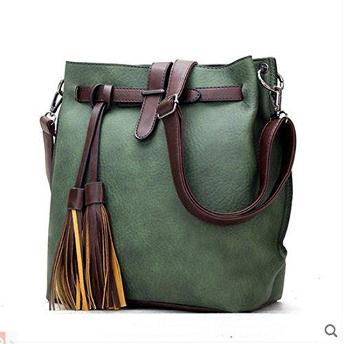 sfpong - Bolso mochila  para mujer, marrón (Marrón) - SFPONGD80148B verde