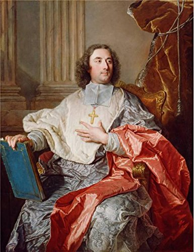 Oil Painting 'Charles De Saint-Albin, Archbishop Of Cambrai, 1723 By Hyacinthe Rigaud' 24 x 31 inch / 61 x 79 cm , on High Definition HD canvas prints, gifts for - Olive Holt