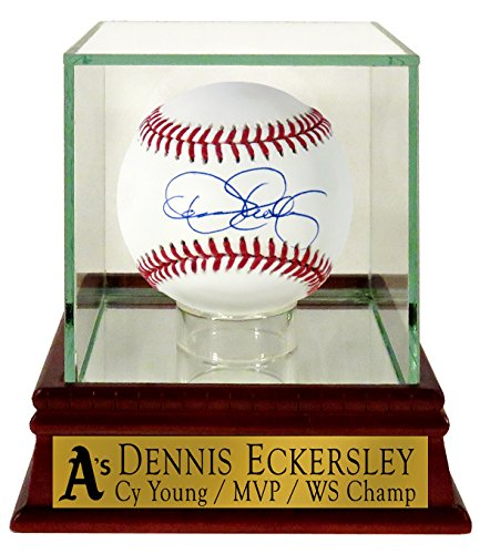 Oakland Athletics Dennis Eckersley Autographed Official MLB Baseball (w/ Custom A's Case)