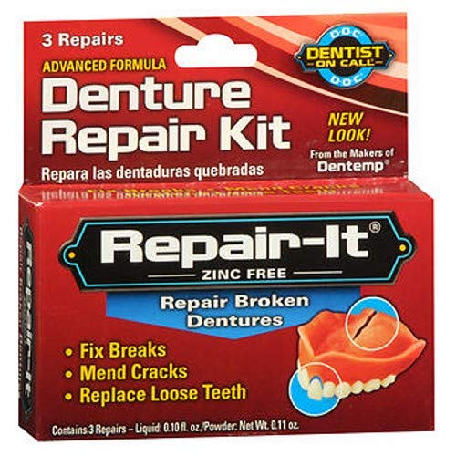 D.O.C. Repair-It Advanced Formula Denture Repair Kit 3 ea (Pack of 4)