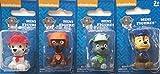 Nickelodeon Paw Patrol Mini Figurine/Cake Toppers ~ set of 4 ~ Rocky, Zuma, Marshall & Chase