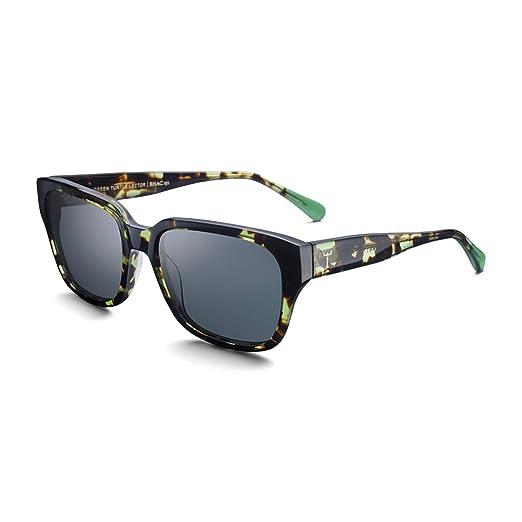 81d76f2b1abc Triwa Men's Lector Wayfarer Sunglasses, Green Turtle & Transparent Green  Temple Tips, ...