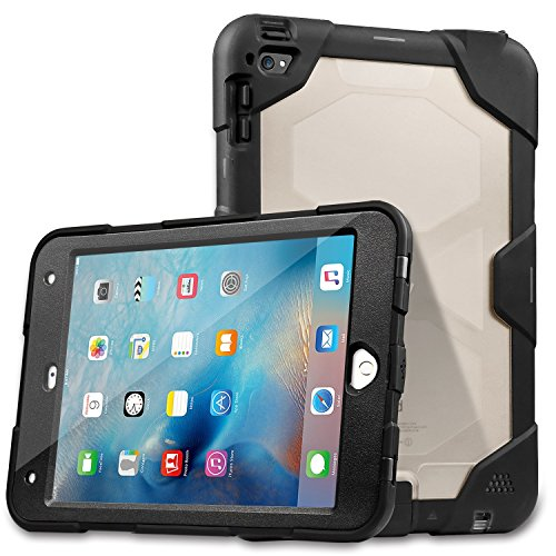 Waterproof Case for iPad mini 4, Meritcase IP68 Shockproof, Dirt-proof, Snow-proof, Waterproof Case for iPad mini 4 (Black)