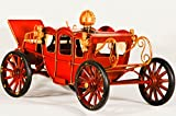 EliteTreasures Retro Metal Red Carriage Decorative Collectible - Vintage Style Miniature - Industrial Decor - Retro Collectible Figurine - Queen Carriage Ornament