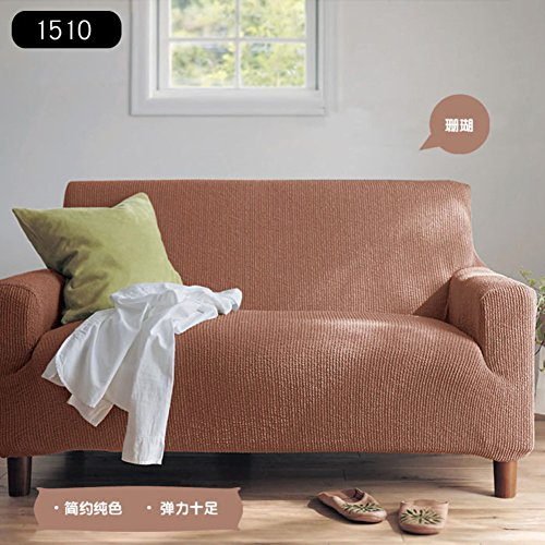 Jacquard plush sofa slipcover,Elastic fabric Stretch couch covers Living room sofa cover all-inclusive universal set elastic antiskid sofa towel furniture protector sectional-C sofa by AMYDREAMSTORE