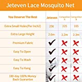 Jeteven Girl Bed Canopy Lace Mosquito Net for Girls