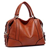 Hynes Victory Womens Luxury Hobo Handbag (Brown)