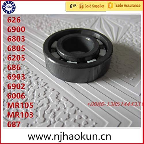 Ochoos Thrust Bearing 1pcs 626 6900 6803 6805 6205 686 6903 6902 6006 Mr105 Mr103 687 Full Si3n4 Ceramic Bearing - (Length: 6900)