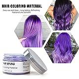 Purple Hair Color Wax Temporary Hairstyle Cream