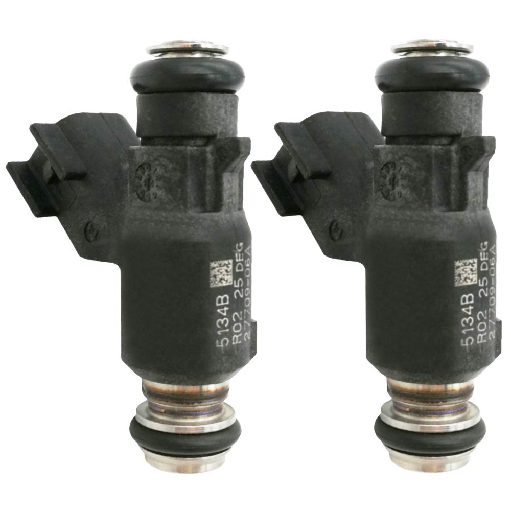 Automotive-leader 2PCS 27709-06A Fuel Injector Fit for 2006-2015 Harley Davidson Motorcycle 25 Degree 2770906A