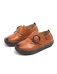 JINANLIPIN Boys Soft Rubber Outsole Slip-On Oxfords Dress Shoes Non-Slip Casual Shoes Toddler/Little Kid
