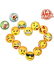 Bellejoomu Magnets Frigo Emoji,Pack De 14 Magnet Emoji Aimant Frigo Des 3D Verre Smiley Pour Réfrigérateur, Tableau Blanc, Surface Métallique,Casiers Scolaires (3cm) Collection De Noël