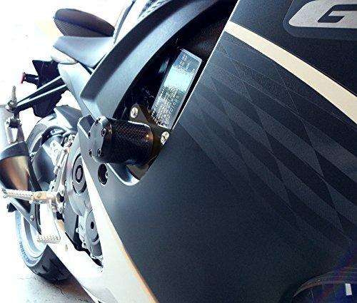 (Shogun Motorsports 710-5459 NO CUT Carbon S5 Frame Sliders Suzuki GSXR600 (11-15) GSXR750 (11-15) by Shogun Motorsports)