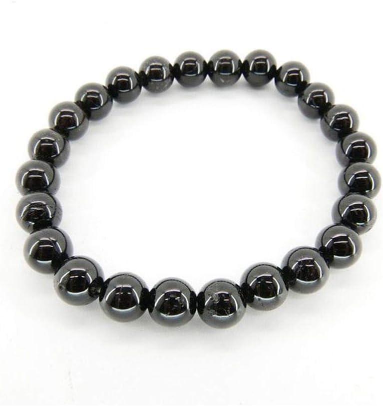 Pulsera Turmalina Negra Bolas de 8mm Minerales y Cristales para Curación, Belleza Energética, Meditacion, Medicina Alternativa, Amuletos Espirituales