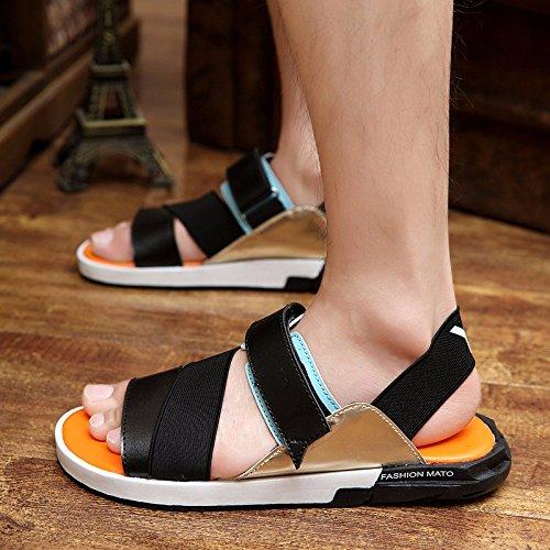 Il nuovo primavera Uomini sandali sandali tendenza scarpa tendenza Tempo libero Uomini scarpa ,arancia,US=6.5,UK=6,EU=39 1/3,CN=39