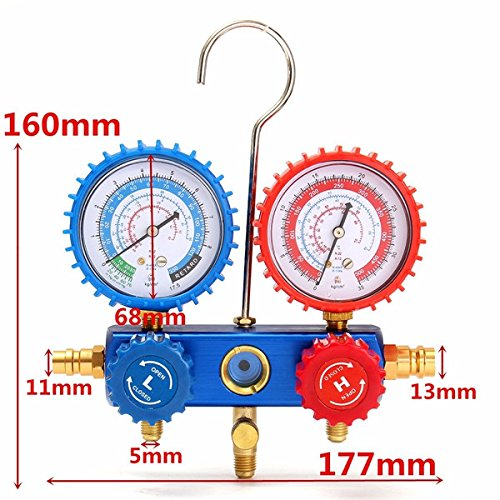 HITSAN 350/500PSI Car A/C Manifold Gauge For R134A Refrigerant A/C System Air Conditioner E6I4 One Piece