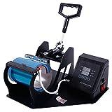 Z ZTDM Digital Mug Press Heat Press Transfer Sublimation Multifunction Machine Mugs/Cups w/ Dual LCD Timer Black US Standard 110V