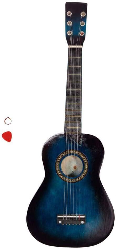 Guitarra acústica de 25 pulgadas, cuerda azul para niños, 6 ...
