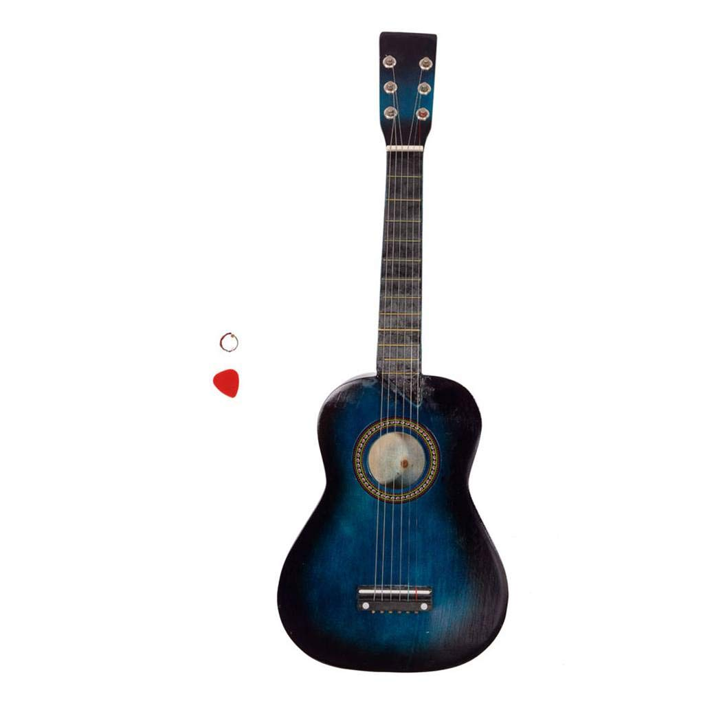 25'' Acoustic Guitar Pick String Blue Children Wood 6 Strings Guitar Learning Music Stringed Instrument xuanL by xuanhemenL