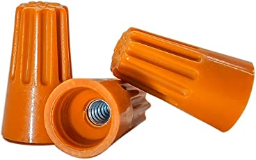 200 PCS Orange Wire Connector, P3 Type Easy Twist-On Ribbed Cap - UL and CSA Listed
