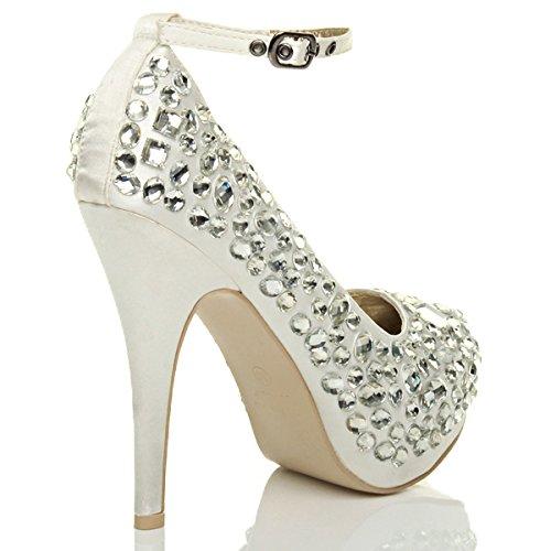 Ivoire Pointure Semelle Chaussures Gemmes Plateforme Talon Haut Femmes Escarpins w8xZ4U
