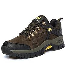 Kunsto Men's Leather Hiking & Trekking Shoes Lace up