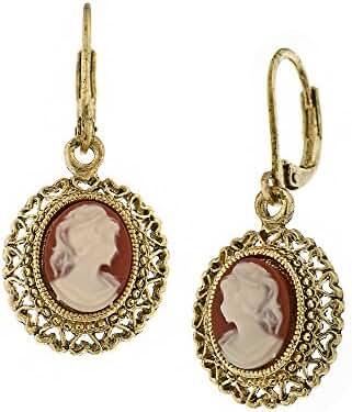 1928 Jewelry Vintage Escapade Carnelian Drop Earrings