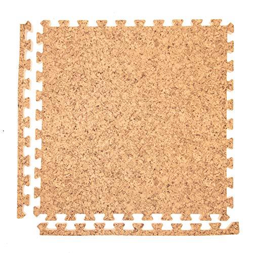 IncStores - Premium Soft Wood Interlocking Foam Tiles (Cork, 25 Tiles) ()