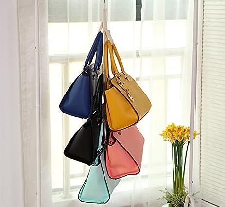 Hever Hanging Handbag Closet Organizer Purse Storage 6 Hook Door Collection  Hanger Hat Bag Strap Belt