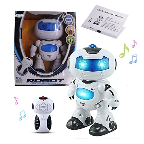 (Remote Robot Toys,C.A.Z RC Dancing Robot with Remote Control Walking Singing Smart Space Robot Astronaut Electrical Action Toy for Kids Boys Music Light Toys for Age 3 and up)