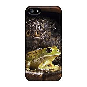 Anti-scratch And Shatterproof Frog With Big Tortoise Phone Cases For Iphone 5/5s/ High Quality Cases