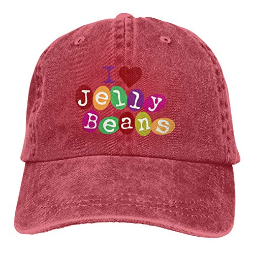 - I Love Jelly Beans Adjustable Baseball Caps Denim Hats Cowboy Sport Outdoor