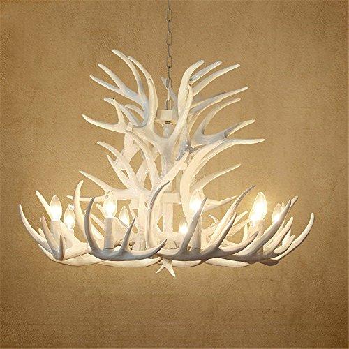 Modern Antler Chandelier - Antlers Chandelier Lamp Modern LED Antler Chandelier Lustre Chandeliers E14 Vintage Lights Novelty Lighting,White