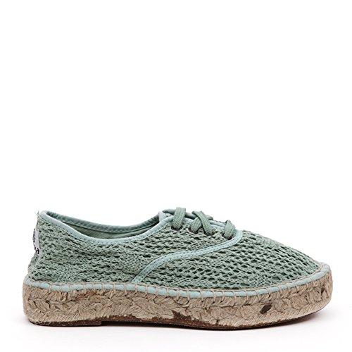 Sneakers Espadrille Da Donna Del Mondo Naturale 686-w Opalo Sz 39