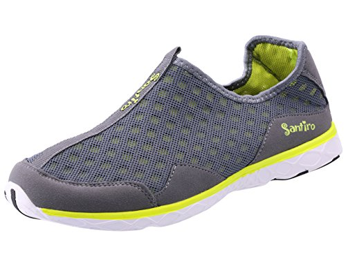 Another Summer Men's Lightweight Breathable Slip-On Sneakers Waterproof Quick Drying Aqua Water (Aqua Mens Sneakers)