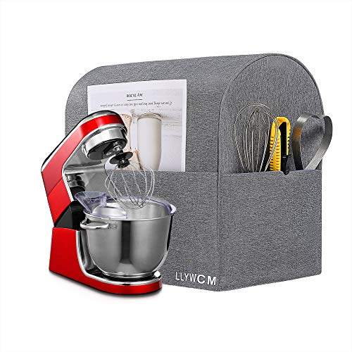 LLYWCM Stand Mixer Cover Kitchen Aid Mixer Cover Large Size Mixer Dustproof Cover, Kitchen Aid Mixer Accessories, Kitchen Small Appliance Protector Shield, Compatible 6-8 Quart KitchenAid Mixers