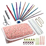 Essential Crocheting Tools and Hooks 35 Items in a Compact Carrying Case - Perfect for Home or Traveling - Ultimate Crochet Kit for any Level of Expertise - Knitting Needle Set - Everything You Need in One Convenient Kit