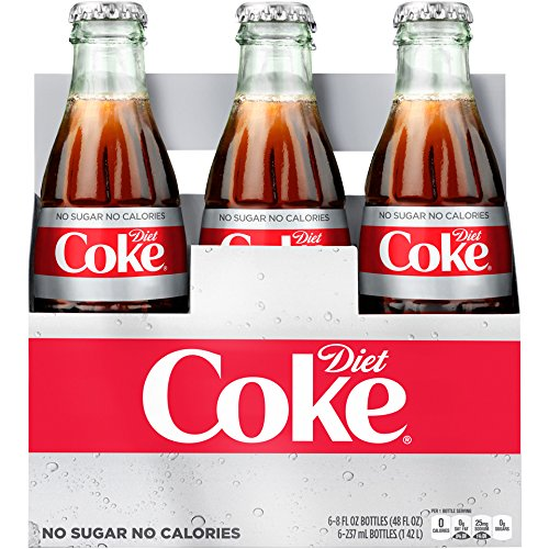 Diet Coke Glass Bottles 4(6 Packs) by Diet Coke