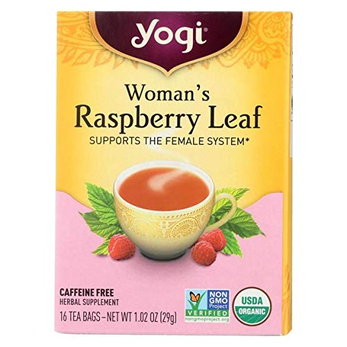 Yogi Tea Expectant Mother Variety Pack - 2 Organic, Herbal and Caffeine Free Teas - Womans Herbal Tea Raspberry Leaf and Comforting Chamomile - Soothes Mild Tension