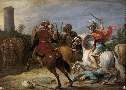 Oil Painting 'Teniers David Proezas De Reinaldo Frente A Los Egipcios 1628 30 ' Printing On Polyster Canvas , 10 X 14 Inch / 25 X 35 Cm ,the Best Basement Decor And Home Gallery Art And Gifts Is This Beautiful Art Decorative Canvas Prints ()