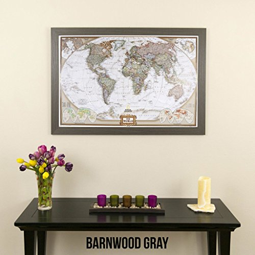 Personalized executive world push pin travel map with frame and pins personalized executive world push pin travel map with frame gumiabroncs Image collections